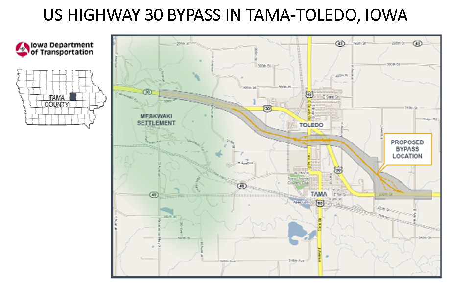 US Highway 30 Update: Eastern portion of the new bypass ...